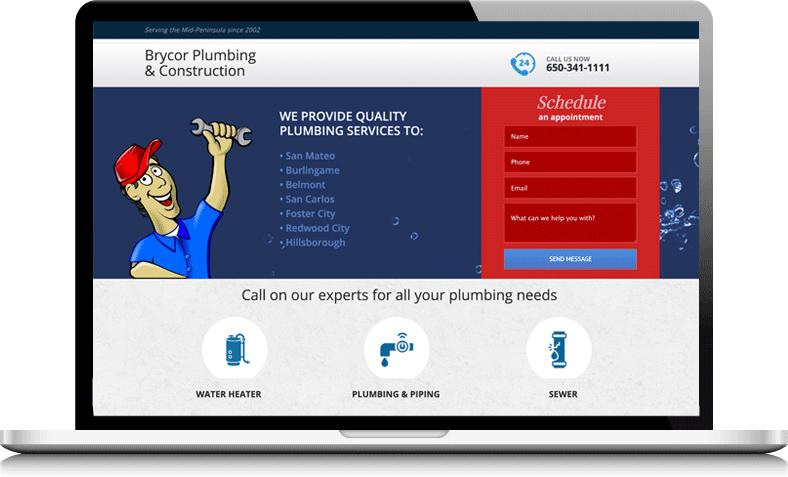 plumbing contractor website